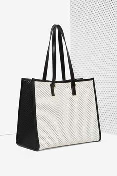 Charlize Perforated Tote Bag | Shop Accessories at Nasty Gal!