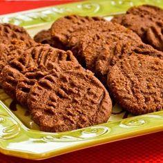 Flourless and Low-Sugar (or Sugar-Free) Chocolate Shortbread Cookies (Gluten-Free) found on KalynsKitchen.com
