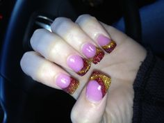 Christmas/FSU nails :)