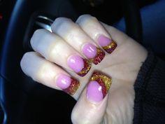 Christmas/FSU nails :)