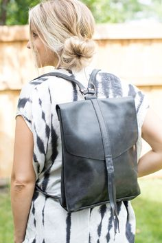 Locally sourced, vegetable dyed leather backpack! The best bag for everyday use, this beautiful bag is the perfect accessory for fall! This all-leather backpack is the perfect size for an on-the-go st