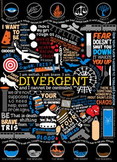 Finally finished my Divergent Book Collage!Hope y'all like it! See the rest of my book collages HERE