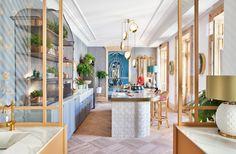 En esta cocina podemos ver un contraste de estilos que crea un efecto muy interesante.