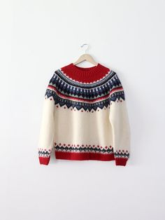 vintage fair isle sweater / folk sweater / nordic by 86Vintage86,