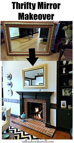 Thrifty Mirror Makeover - Redhead Can Decorate