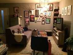 """Before & After: Angel's """"Geek Chic"""" Living Room — The Big Reveal Room Makeover Contest 2015"""