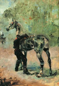 Toulouse lautrec, did an oil pastel of this in high school.  I re-painted this in hs and haven't seen it since. cool