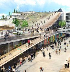 BIG architects + AECOM: chicago navy pier proposal: