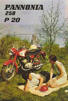 Pannonia brochure from 1968 Vespa Motorcycle, Motorcycle Posters, Car Posters, Vintage Motorcycles, Cars And Motorcycles, Vintage Ads, Vintage Posters, Ddr Brd, Restaurant Pictures