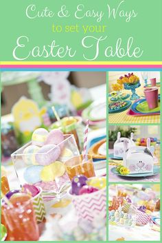 The Easter meal is one of the best of the year. Check out our ideas on how you can set a little fun into your Easter table. Kids tables to adult tables, we have some great DIY ideas to make your table the best and most colorful Easter table around.