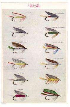 Set Trout Flies Fly Fishing Wet Flies Two Prints