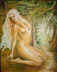 Pictura in acrilice pe panza inspirata din poezia Dorinta de Mihai Eminescu