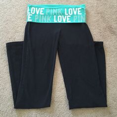 Short VS yoga pants Size small SHORT. Only worn probably twice. Great condition. PINK Victoria's Secret Pants Leggings