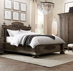 restoration hardware bedroom french empire - Google Search