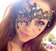 Black-Half-Phantom-Laser-Cut-Metal-Venetian-Masquerade-Mardi-Gras-Mask