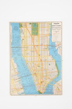 New York City Map Poster - I actually want to hang a Minneapolis map (since that's where I'll be)