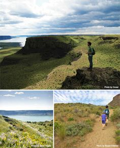 Steamboat Rock - Looking for warm, dry hiking with stunning views and a post-hike swim? Climb to the top of Steamboat Rock for dramatic views of Banks Lake and coulee country. Wildflowers and camping options at Steamboat Rock State Park sweeten the deal.