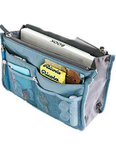 Multi purpose Dual Bag in Bag - deep sky Felt Purse, Coin Purse, Burberry Handbags, Louis Vuitton Handbags, Travel Accessories, Handbag Accessories, Shower Accessories, Bag In Bag, Tote Bag