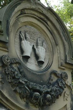 Blessing Hands in Jewish Cemetary in Worms, Germany