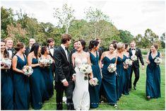 Wedding Party | Navy Bridesmaid Dresses | Christen Jones Photography