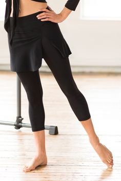 Our Barre Skirted Capri combines our high rise slimming Capri with a cute skirt for dancer-like style or added Cover. A gusset provides extra comfort Dance Outfits, Cool Outfits, Casual Outfits, Fashion Outfits, Women's Fashion, Workout Capris, Workout Wear, Everyday Outfits, Everyday Fashion