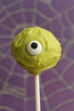 Pin for Later: Boo Bites! 20 Spook-tacular Halloween Cake Pops Green Eye Cake Pop
