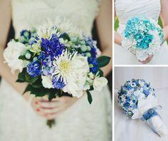 bouquet de noiva tons verdes e azuis - Pesquisa Google