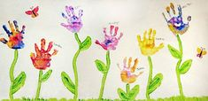 Spring! OMG.. I can see a new portrait for my wall.  All the grandchildren's hand flowers... Love it..