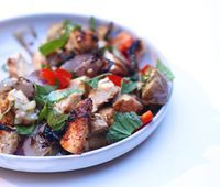 The Bitten Word: Grilled Thai Chicken and Eggplant with Basil