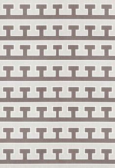 Fabric | Greek T in Cloud / Pewter | Schumacher