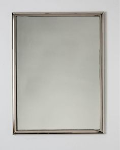 "SMALL mirror shown in Polished Nickel.    DIMENSIONS  Overall: 25-5/8"" h. x 19-3/4"" w. x 5/8"" d.  Mounting Type: d rings  Specify portrait or landscape orientation.  OPTIONS  Additional standard sizes:   31 3/4""H. x 21 3/4"" W. x 5/8""D.  37 3/4""H. x 25 3/4"" W. x 5/8""D.  Also available in custom sizes."