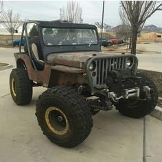 Jeeps and Jeep Girls. Some pics and vids are my personal ones, but most pics are from the net so if its yours or copyrighted let me know and it will be removed. Cj Jeep, Jeep Mods, Jeep Wrangler Yj, Jeep Rubicon, Jeep Truck, Jeep Willys, Jacked Up Trucks, Cool Trucks, Pickup Trucks