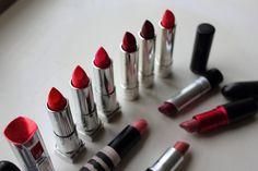 lipsticks - clinique, loreal, mac, topshop