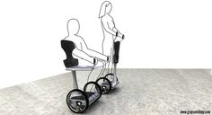 EAZ Disabled Mobility Device by Grayson Stopp, via Behance