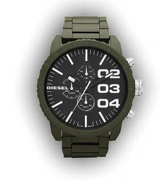 Over the last few years I have noticed a trend with watch designers drawing on the classic military issue watch style, with its black face and white analogue numerals. This is another example