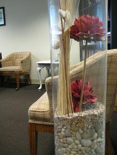 vase filler ideas for large clear glass vase | Large Vase Display