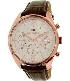 Tommy Hilfiger Men's Sophisticated 1791183 Brown Leather Quartz Watch