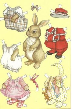 Me and and grand daughter, Bree are doing this now!!  So cute!Bunny Paperdoll printable