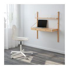 SVALNÄS Vægmonteret arbejdspladskombination IKEA Skjul dine ting eller vis dem frem ved at kombinere åben og lukket opbevaring.