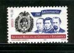 Estampilla Postal de 1993, conmemorando los 160 años de la SMGE MÉXICO