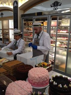Harrods Food Hall - London, United Kingdom. Cakes!