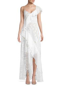 2ec81a879f90 BCBGMAXAZRIA Asymmetric Ruffle Gown. Burgundy Wedding Guest DressGorgeous Wedding  DressBcbg ...