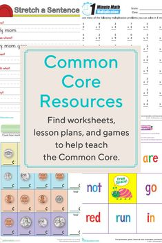 Find over worksheets, over 150 workbooks, and a slew of online games and lesson plans organized by their Common Core codes, focusing on math and English language arts in kindergarten through fifth grade. Common Core Ela, Common Core Reading, Common Core Language Arts, Common Core Standards, Lesson Plan Organization, School Organization, Teaching Subtraction, Kindergarten Lesson Plans, Math Lesson Plans