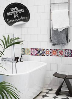 60 Aufkleber Fliesen | Sticker Selbstklebend Fliesen U2013 Mosaik Fliesen  Wandtattoo Badezimmer Und Küche | Fliesen Kleber U2013 Mehrfarbig U2026