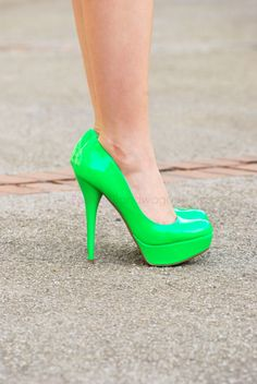 neon green pumps