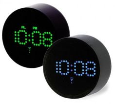radio controlled 'dot LED clock' automatically adjusts for time zone changes