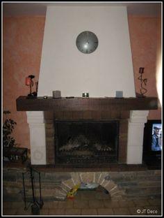 Photos d coration de chemin e chemin e contemporaine foyer ferm bois de gh - Amenager une cheminee condamnee ...