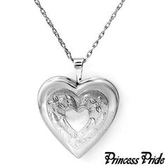 Solid 925 Sterling Silver Heart Shaped Locket & Chain. Great Christmas present! #PrincessProde #Locket
