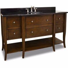 """Jeffrey Alexander 60"""" Philadelphia Classic Single Sink Vanity Set - VAN080-60-T"""