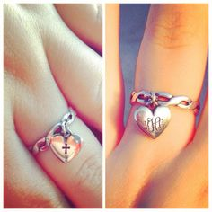 We love how this James Avery customer customized her Puffed Heart Charm with engraving on the front and back. #regram #myjamesavery